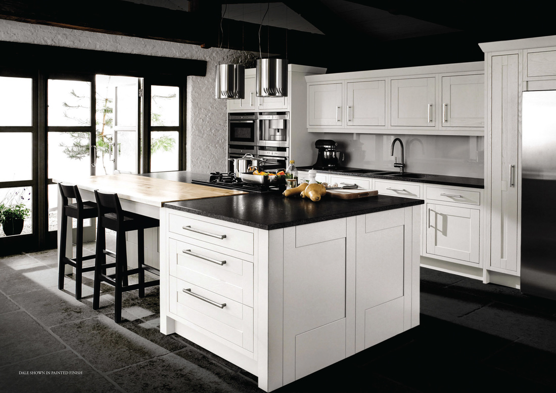 kitchen visions dale in frame fitted kitchen shown here in all white kitchen visions. Black Bedroom Furniture Sets. Home Design Ideas