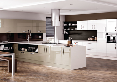 stone coloured kitchen