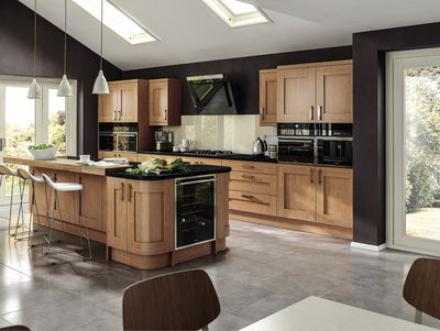 cheap oak kitchen