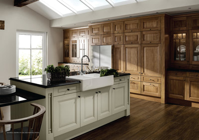 Raised centre panel shaker kitchen